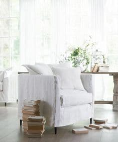 Boho&Co Home pure linen loose covers for New Romantics armchair